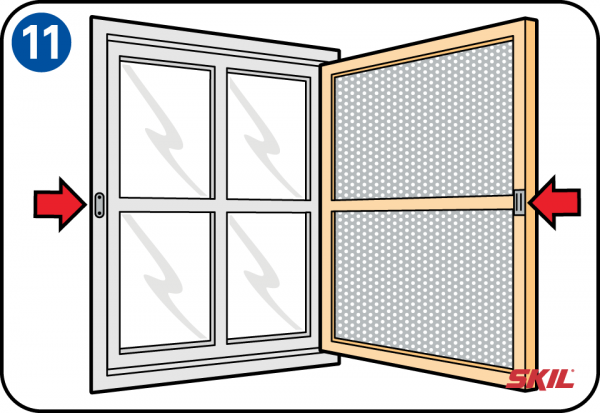 How to fit a fly screen