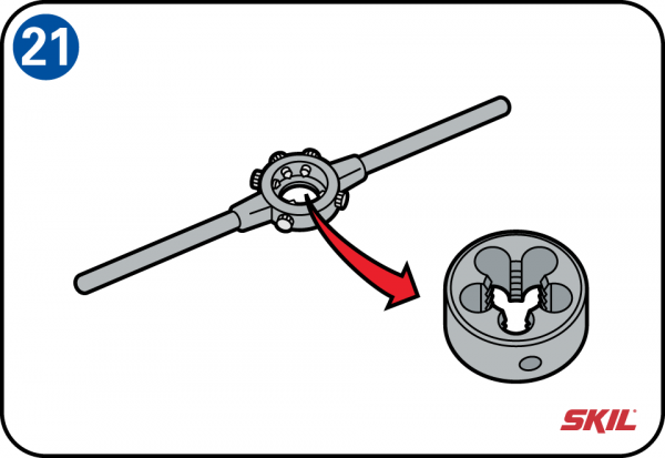 How to screw in metal