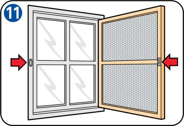 how to remove a fly screen from a window